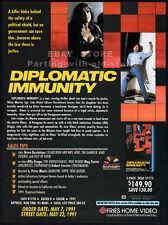 DIPLOMATIC IMMUNITY__Orig. 1991 Trade AD promo__FABIANA UDENIO__Bruce Boxleitner