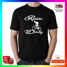"Ridin sucio Premium T-Shirt Ciclismo Bicicleta De Montaña Mtb Dh Xc 26"" 29"" neumáticos de ciclismo"