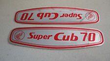 Honda C70 Super Cub gas tank paper stickers logos emblems H2059