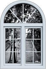 Stickers fenêtre trompe l'oeil escalier Paris réf 6256