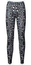 Classic Monochrome Snake Python Skin All Over Print Fashion Leggings Fitness