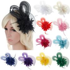 Women Hairpin Clip Flower Pearls Vintage Fascinator Hair band Wedding