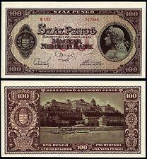 HUNGARY 100 PENGO 1945 P#111b BANKNOTE Ungarn UNC