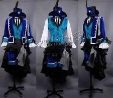 Free shipping Black Butler Ciel Phantomhive Cosplay Costume Free Custom Made#256