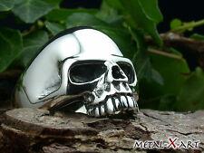 Sterling Silber 925, Totenkopf, Skull, Keith Richards Ring, Biker, bis Größe 80