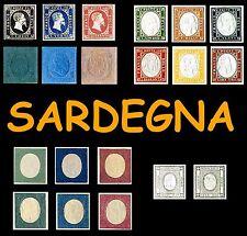 1854 1855 1863 Regno di Sardegna Annullati - Sardinia Reign Italy Italian States