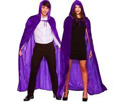 Adulto de lujo de terciopelo violeta con Capucha Capa Halloween Bruja Vampiro elaborado vestido con capa