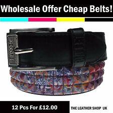 Wholesale Offer Lot Of Dozen Mix 12 Pcs UK Pyramid Studded Fashion Belt PF20