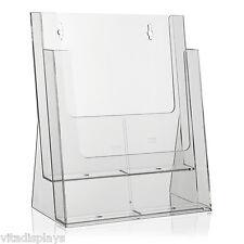 Transparenter Prospektständer der Marke Taymar® im DIN A4 Format auf 2 Etagen