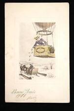 AEROSTAT BONNE ANNEE 1911 AVIATION TRAINEAU