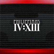 4:13 #4 Philippians Christian Car Decal Truck Window Vinyl Sticker (20 COLORS!)