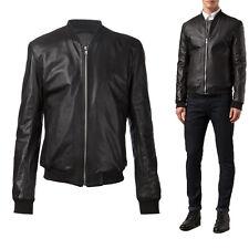 Giacca Giubbotto in Pelle Uomo Men Leather Jacket Veste Blouson Homme Cuir R20a