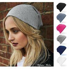 Mens Womens Jersey Beanie Hat Lightweight Stretch Cotton Beenie