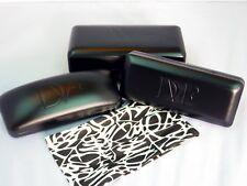 DVF Diane von Furstenberg Eyeglass and Sunglass Cases New!  Black