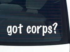 got corps? MUSIC MEDICAL MARINES FUNNY DECAL STICKER ART WALL CAR CUTE