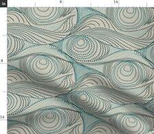 Pointallism Blue Australia Aboriginal Pattern Fabric Printed by Spoonflower BTY