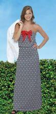 NWT Mud Pie Womens Leighton Strapless Maxi Dress Black Red S M L