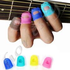 2/4PCS Silicone Guitar Thumb Bass Fingertip Finger Picks Protector Plectrum Band