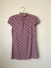 Merona XS Pink Printed Short Sleeve Turtleneck Top