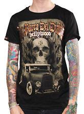 La marca del diablo [hellywood Skull] t-shirt Kustom Kulture Hot Rod 666 Skulls