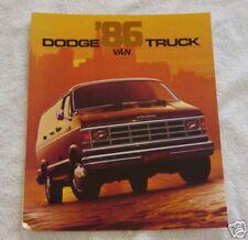 1986 Dodge Truck Van  Automobile Brochure MINT