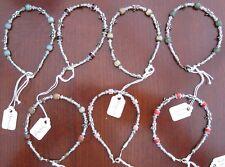 Gemstone and Dragonfly Silver Plated Bracelet - Gemstone A - C
