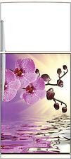 Sticker frigo électroménager déco cuisine Orchidée reflet 60x90cm Réf 1329