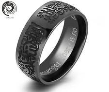 Titanium steel Band Allah Arabic Black/Gold God Rings Cool Rings Islamic Ring
