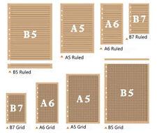 B7/A6/A5/B5 Planner Diary Notebook Insert Refill Notes Paper Organiser 80 Sheets