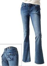 $80 NWT Rock & Republic Boot Cut Kasandra Roxy Denim Low Rise Jeans