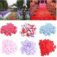 New 100Pcs Love Heart Shaped Fabric Petal Wedding Supplies Table Bed Decor LD