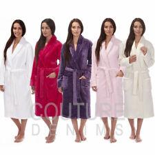 Onorevoli CORALLO FLANELLA Fleece medicazione robe abito morbido Housecoat BATHROBE Wrap