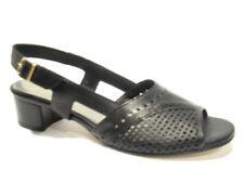 Franico 060 nero sandalo tacco basso donna sandal low heel woman made in italy