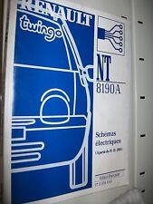 schémas électriques Renault TWINGO 2001 NT8190