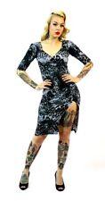 Switchblade Stiletto Leopard Bella Tattoos Pinup Punk Goth Bodycon Dress SD165L