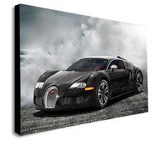 BUGATTI - VEYRON SUPER SPORTS CAR CANVAS WALL ART PICTURE PRINT Various Sizes