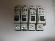 CONTROL GEAR DIRECT CGD DZ47 B6 B16 B32 B40 B63 6KA SINGLE POLE MCB's