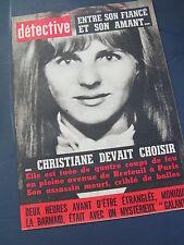 Détective 1967 1100 MENESTEROL FRONTIGNAN LOOBERGHE AJACCIO SAINT MAUR FOSSES