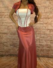 Abendkleid Dreiteiler Corsage Abschlussballkleid Maxikleid Kleid Gr.36,42,44