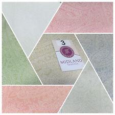 floreale Cachemire PASTELLO BIANCO LACCA Stampa Tessuto 100% Cotton 112CM