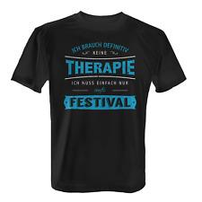Therapie Festival Herren T-Shirt Spruch Musik Sommer Konzert Bands Party Tanzen