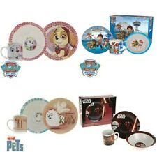 Kids Breakfast Set 3 Ceramic Plate Bowl Mug Children Porcelain Dinner star wars