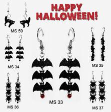 Halloween Spinne Fledermaus Katze Ohrringe Party Motiv Auswahl MS-32 Ohrschmuck