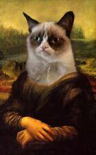 154254 Grumpy Cat Mona Lisa Art Wall Print Poster UK