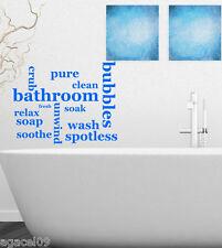 BUBBLE... Toilette Bagno Muro Citazione Vinile Decor Adesivo Decalcomania Stencil GRAPHIC