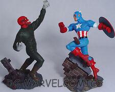 FACTORY NEW! CAPTAIN AMERICA VS RED SKULL STATUE-SET AVENGERS DIORAMA Figurine