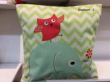 Linen Cotton Cushion Cover - Elephant Design