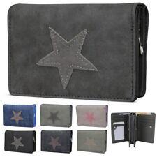 Damen Canvas Stern Geldbörse Geldbeutel Brieftasche Portemonnaie Damenbörse