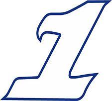 x 1 5.1cm numero da gara vinile adesivo più nel negozio EBAY Stile 2 Numero 1