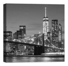 60X100 NEW YORK BRIDGE PONTE QUADRO STAMPA SU TELA CANVAS TELAIO VERNICE PEN